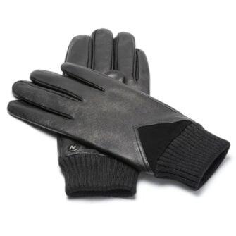 napoSPORT (schwarz) - Herren-Winterhandschuhe mit Fütterung und Touchscreen-Technologie
