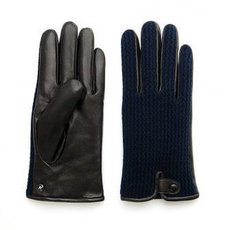 napoWOOL (schwarz/dunkelblau) - Herren-Winterhandschuhe mit Fütterung und Touchscreen-Technologie #3