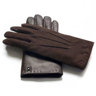 napoSUEDE (braun) - Herren-Winterhandschuhe mit Kaschmir-Fütterung und Touchscreen-Technologie