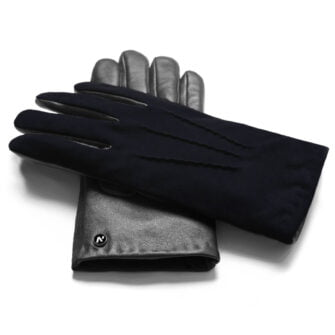 napoSUEDE (schwarz/dunkelblau) - Herren-Winterhandschuhe mit Kaschmir-Fütterung und Touchscreen-Technologie #3