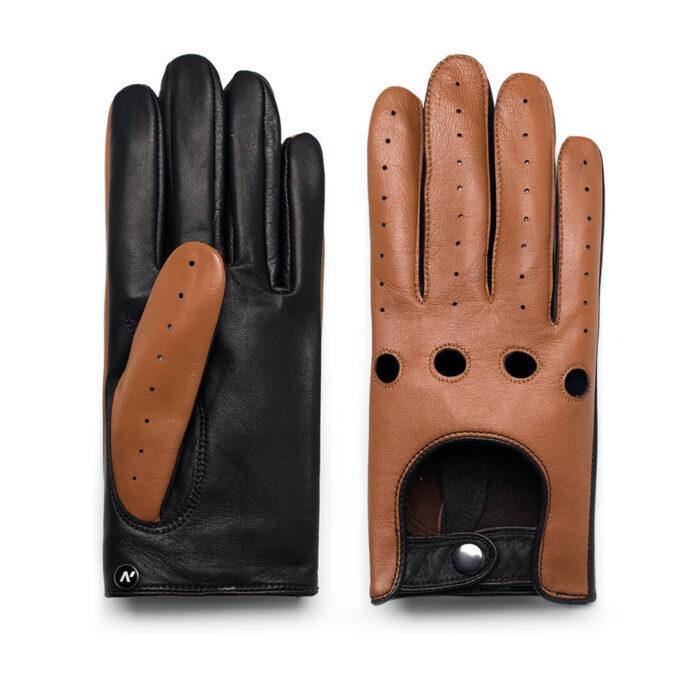 napoDRIVE (braun/hellbraun) - Herren-Autohandschuhe ohne Fütterung mit Touchscreen-Technologie #3
