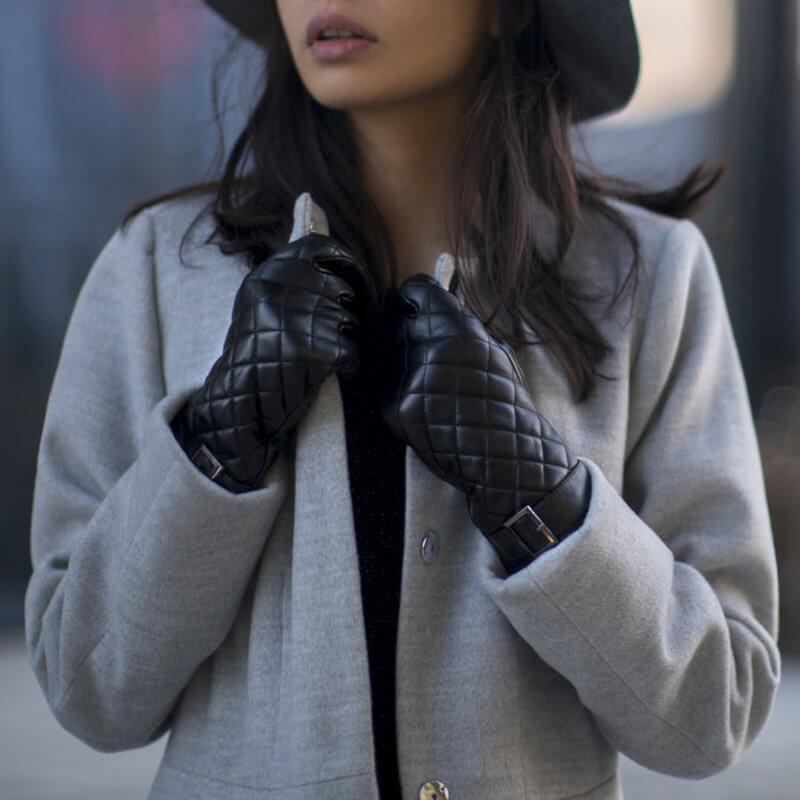 Schwarze Handschuhe für Damen