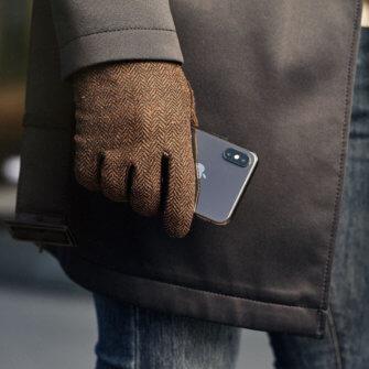 Braune Handschuhe für Herren