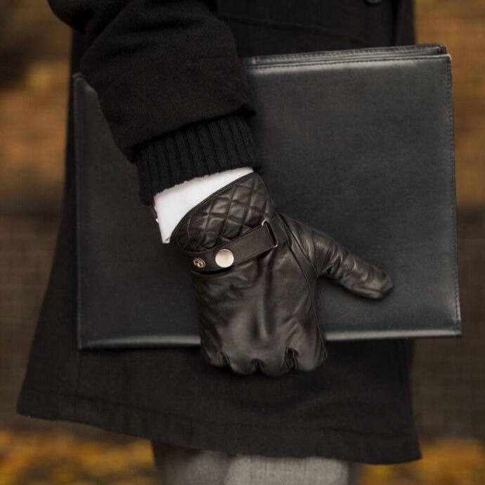 Schwarze Handschuhe für Herren