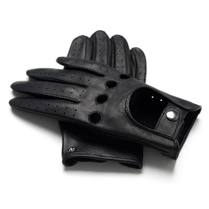 napoDRIVE (schwarz) - Herren-Autohandschuhe ohne Fütterung mit Touchscreen-Technologie