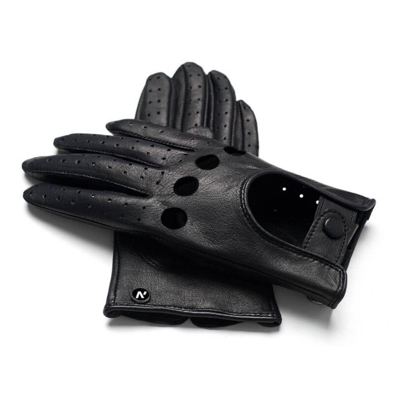 napoMODO (schwarz) - Damen-Autohandschuhe ohne Fütterung mit Touchscreen-Technologie
