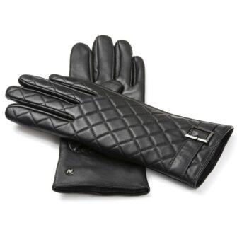 napoELEGANT (schwarz) - Damen-Winterhandschuhe mit Fütterung und Touchscreen-Technologie