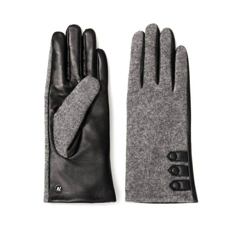 napoFELT (schwarz/grau) - Damen-Winterhandschuhe mit Fütterung und Touchscreen-Technologie #3