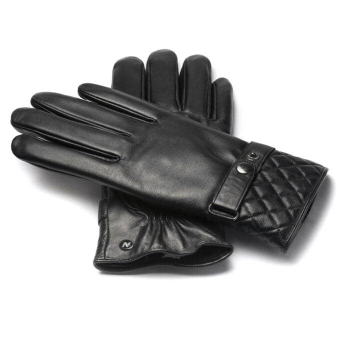 napoMODERN (schwarz) - Herren-Winterhandschuhe mit Fütterung und Touchscreen-Technologie
