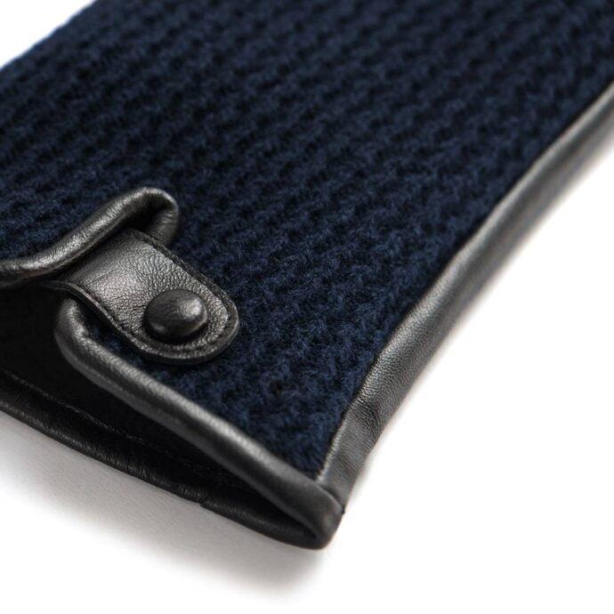 napoWOOL (schwarz/dunkelblau) - Herren-Winterhandschuhe mit Fütterung und Touchscreen-Technologie #2