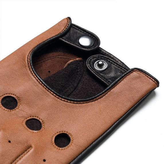 napoDRIVE (braun/hellbraun) - Herren-Autohandschuhe ohne Fütterung mit Touchscreen-Technologie #2