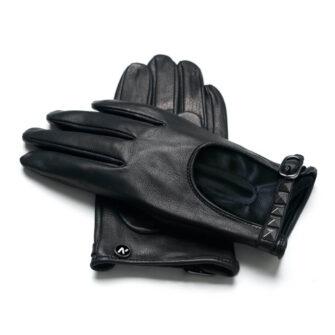 napoROCK (schwarz) - Damen-Autohandschuhe mit Sommerfütterung mit Touchscreen-Technologie