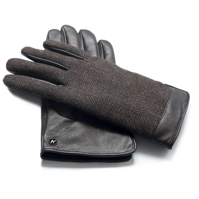 napoGENT (braun) - Herren-Winterhandschuhe mit Fütterung und Touchscreen-Technologie