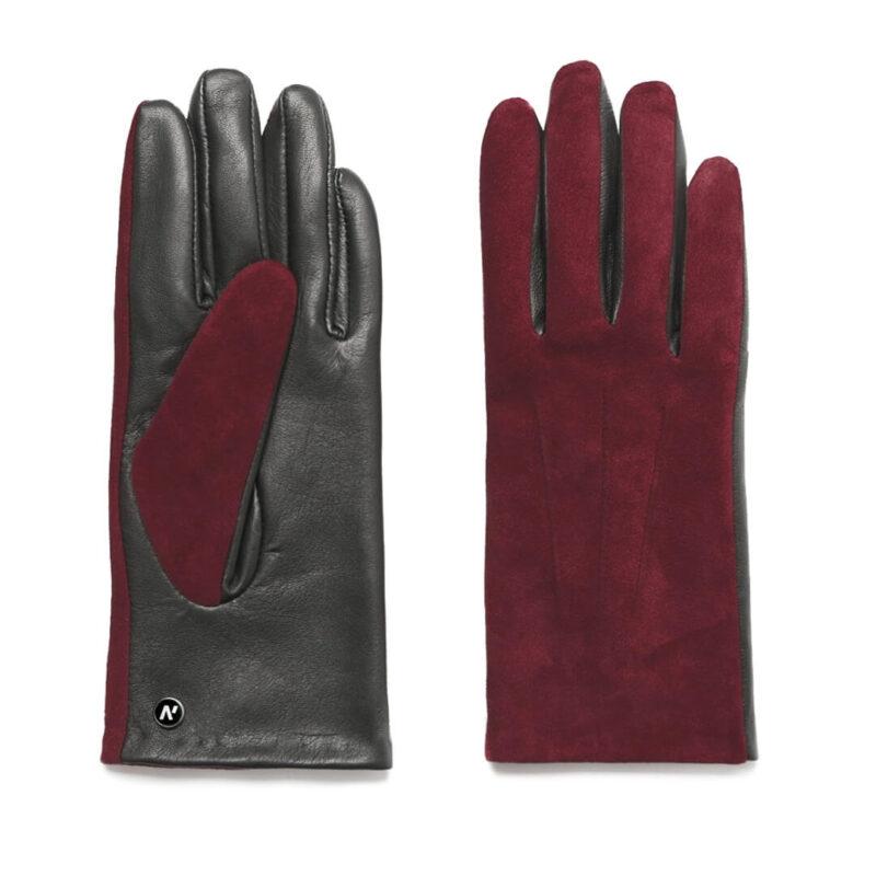 napoROSE (schwarz/dunkelrot) - Damen-Winterhandschuhe mit Fütterung und Touchscreen-Technologie #2