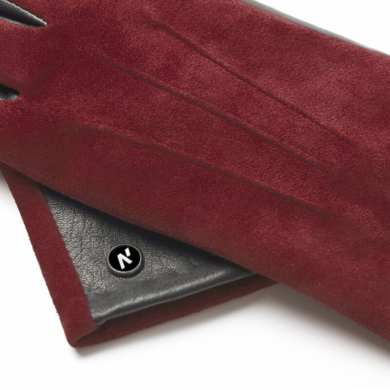 napoROSE (schwarz/dunkelrot) - Damen-Winterhandschuhe mit Fütterung und Touchscreen-Technologie #3
