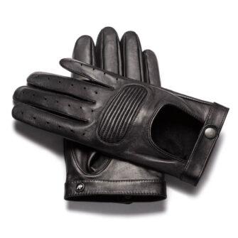 napoSPEED (schwarz) - Herren-Autohandschuhe ohne Fütterung mit Touchscreen-Technologie