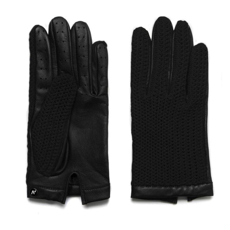 napoCROCHET (schwarz) - Herren-Autohandschuhe ohne Fütterung mit Touchscreen-Technologie #5