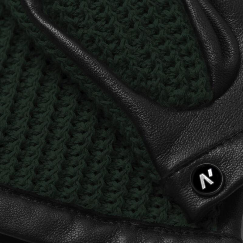 napoCROCHET (schwarz/grün) - Herren-Autohandschuhe ohne Fütterung mit Touchscreen-Technologie #3