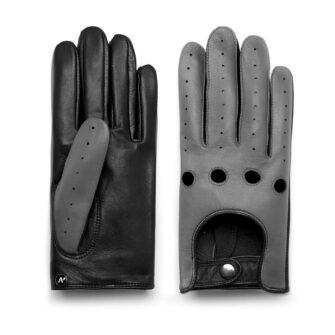 napoDRIVE (schwarz/grau) - Herren-Autohandschuhe ohne Fütterung mit Touchscreen-Technologie #3