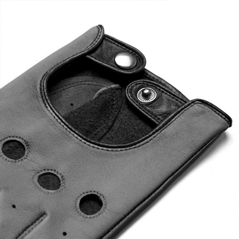 napoDRIVE (schwarz/grau) - Herren-Autohandschuhe ohne Fütterung mit Touchscreen-Technologie #2