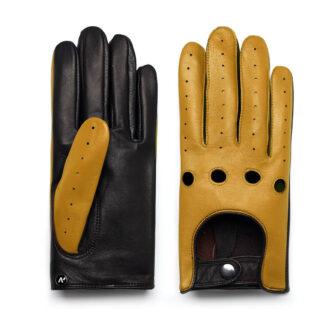 napoDRIVE (braun/gelb) - Herren-Winterhandschuhe mit Fütterung und Touchscreen-Technologie #3