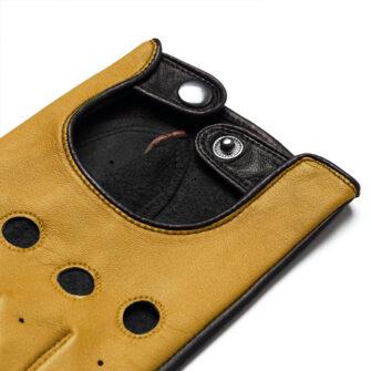 napoDRIVE (braun/gelb) - Herren-Winterhandschuhe mit Fütterung und Touchscreen-Technologie #2