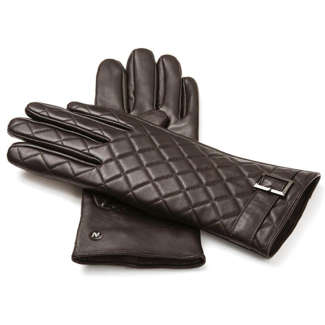 napoELEGANT (braun) - Damen-Winterhandschuhe mit Fütterung und Touchscreen-Technologie