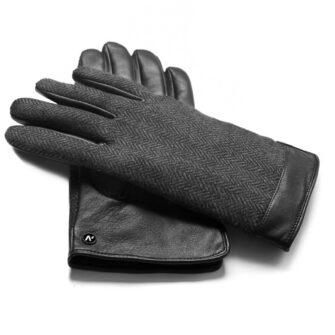napoGENT (schwarz/grau) - Herren-Winterhandschuhe mit Fütterung und Touchscreen-Technologie