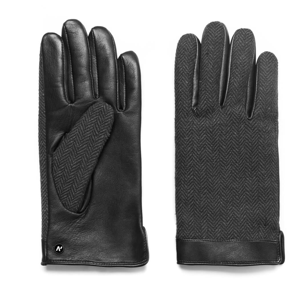 napoGENT (schwarz/grau) - Herren-Winterhandschuhe mit Fütterung und Touchscreen-Technologie #3