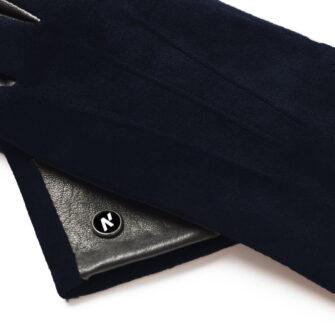 napoROSE (schwarz/dunkelblau) - Damen-Winterhandschuhe mit Fütterung und Touchscreen-Technologie #2