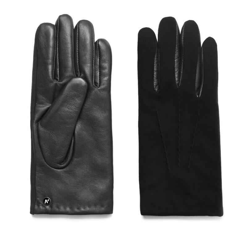 napoSUEDE (schwarz) - Herren-Winterhandschuhe mit Kaschmir-Fütterung und Touchscreen-Technologie