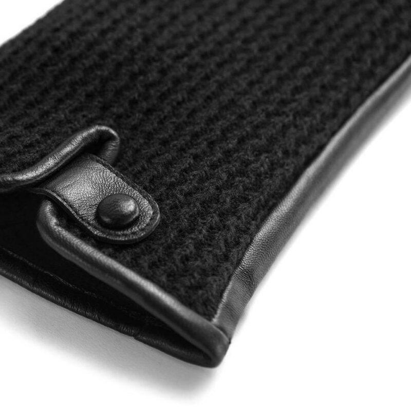 napoWOOL (schwarz) - Herren-Winterhandschuhe mit Fütterung und Touchscreen-Technologie