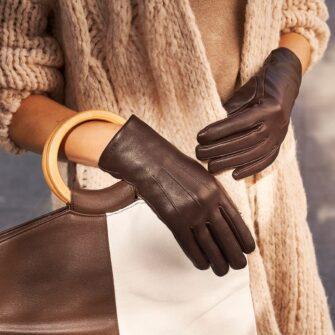 Braune elegante Handschuhe für Damen