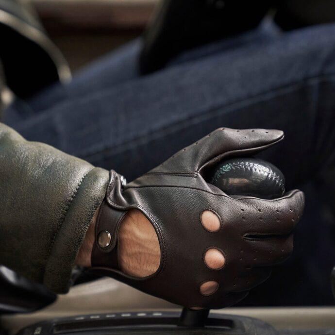 Braune Autohandschuhe für Herren