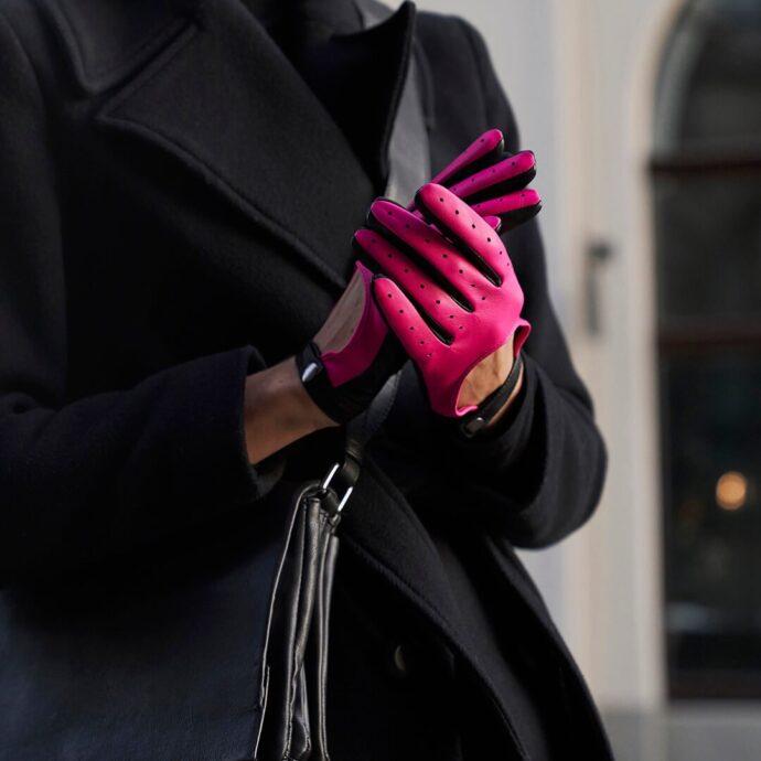 Neonfarbene Handschuhe für Damen