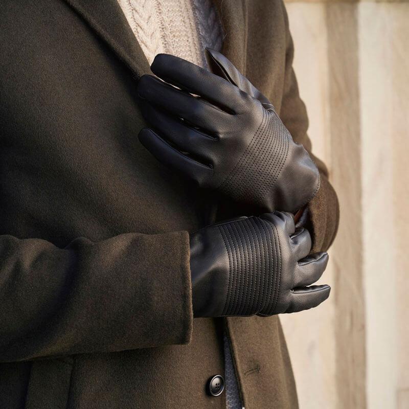 Kunstleder Handschuhe für Herren