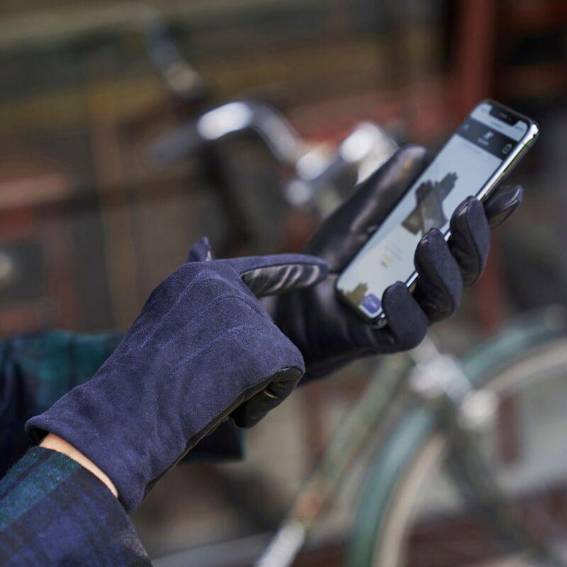 Blaue Handschuhe für Damen
