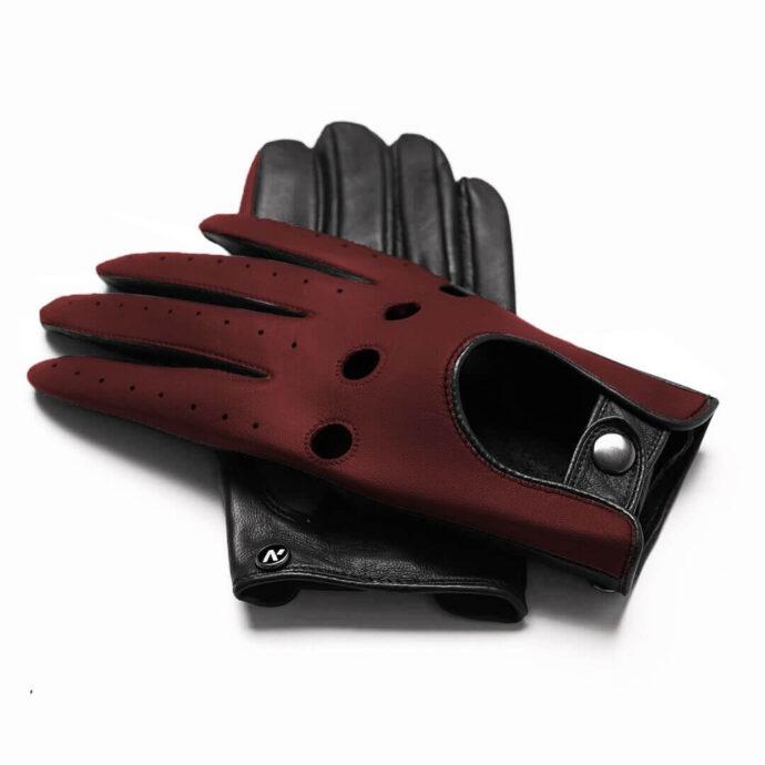 Autofahrerhandschuhe dunkel Rot für Herren