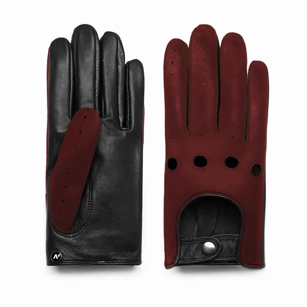 Autofahrerhandschuhe dunkel Rot Mann