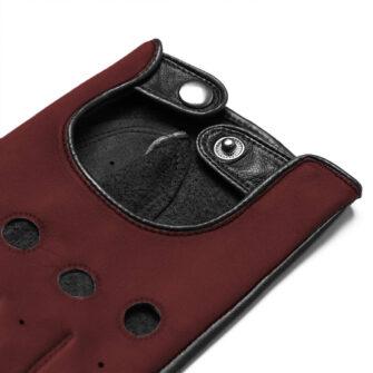 Autofahrerhandschuhe dunkel Rot
