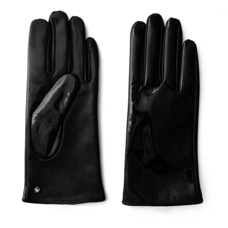 Schwarze Handschuhe glänzend