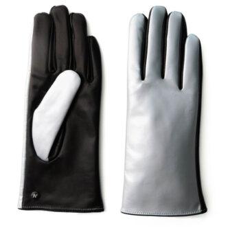 Silber glänzende Handschuhe für Damen