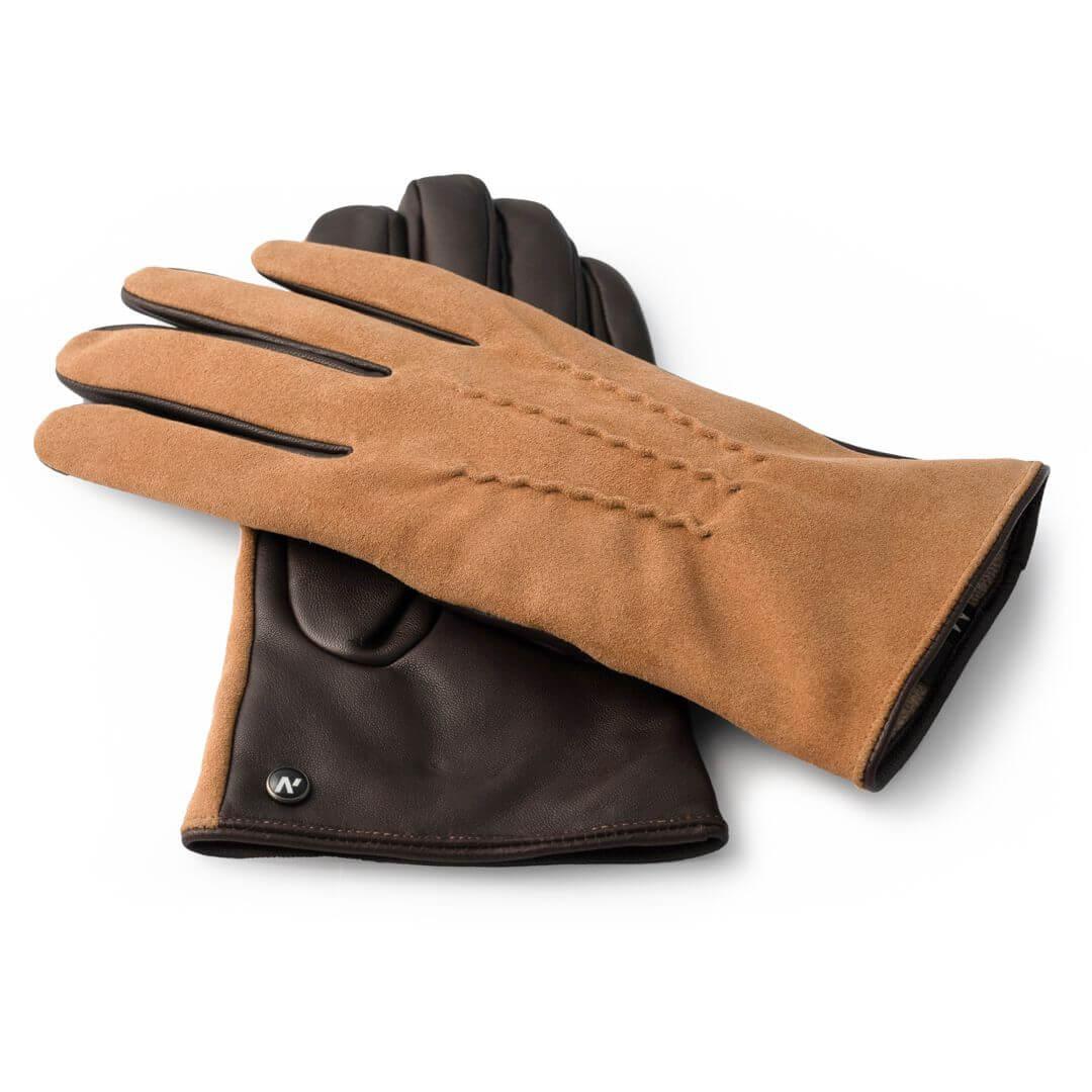 Schöne braune Handschuhe