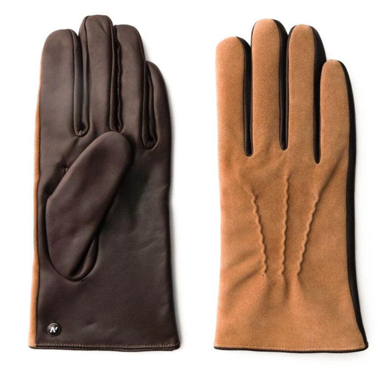 Hellbraune Handschuhe